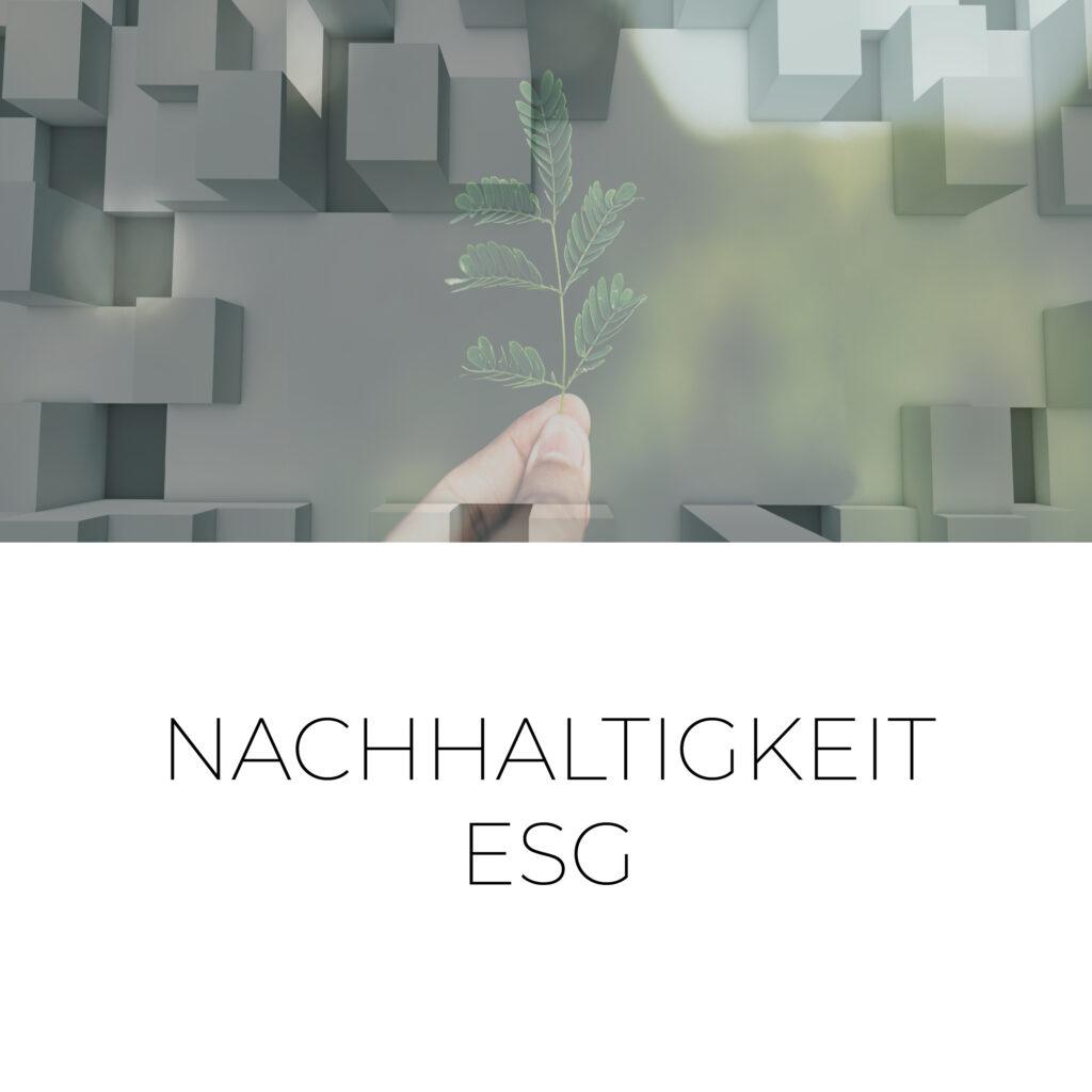 Nachhaltigkeit ESG